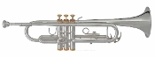 Blessing BTR-1460G Trumpet - silver plating and gold plated trim