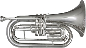 Blessing BM-301S Marching Baritone, silver plated