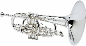 Blessing BM-100S Marching Mellophone, silver plated