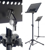 Stagg MUS-A5 BK PRO Orchestral Music Stand w/Holes