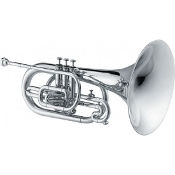 Jupiter F Marching Mellophone [Silver Plated]