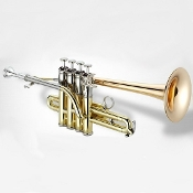 Jupiter XO Piccolo Trumpet - Rose Brass Bell - 1700RS