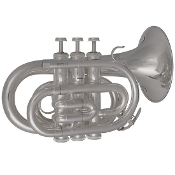 Bach Prelude Pocket Trumpets - Silver Plate